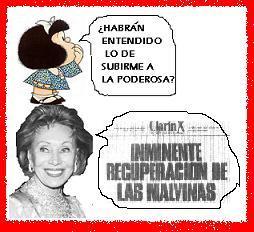Mafalda se sube a La Poderosa.