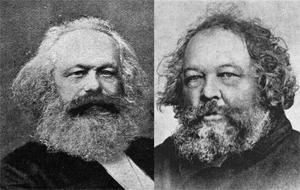 Marx y Bakunin