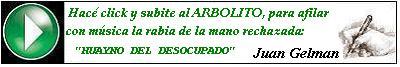 Arbolito, plantado por Gelman.