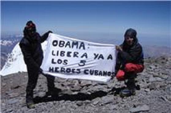 Obama: liberá ya a los 5 héroes cubanos.