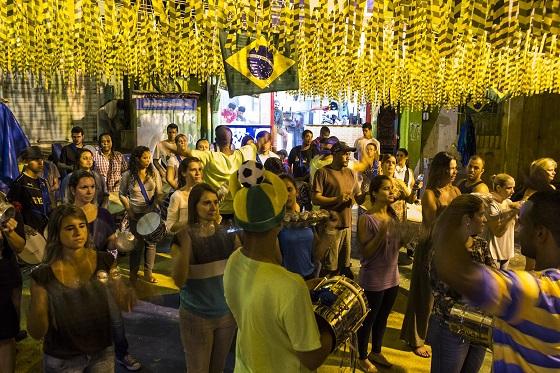 La alegría no es sólo brasileña, pero a veces parece...