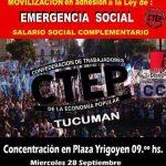 Vientitos de CTEP en Tucumán