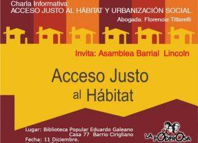 En Lincoln: Habitar es una necesidad, el hábitat un derecho