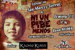 «NI UN PIBE MENOS» GRITA EN SAN MARCOS SIERRAS CON TODAS SUS FUERZAS