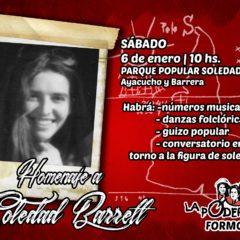 ¡Compañera Soledad, desde el barrio hasta la victoria siempre!