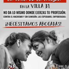 ¡Necesitamos abogadas para la Casa de las Mujeres en la Villa 31!