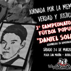 """En Fiske, gambeteamos el olvido: ¡1° campeonato de fútbol popular """"Daniel Solano""""!"""