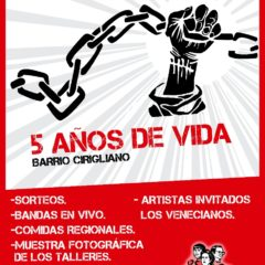 Poderoso festival barrial de la resistencia