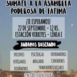 ¡En la asamblea de Fátima, te necesitamos!