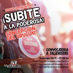 ¡Subite a La Poderosa en Concepción del Uruguay!