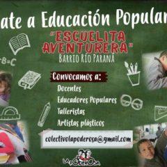 Compartir lo que sabemos, ¡sumate a Educación Popular!