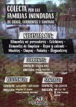 Colecta para los barrios inundados