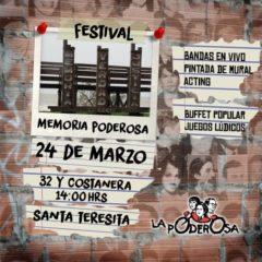 Festival «Memoria Poderosa» en Santa Teresita