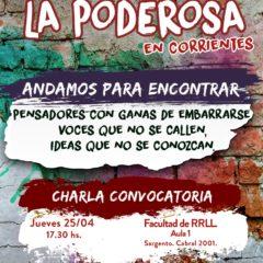 La Poderosa convoca en Corrientes