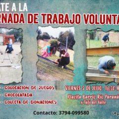 Jornada de trabajo voluntario en Corrientes