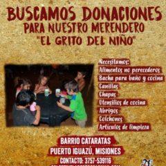 Colaborá con nuestro merendero en Puerto Iguazú