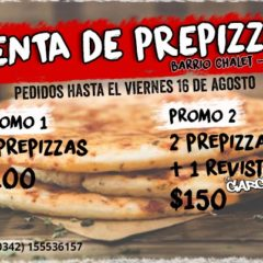 Venta de prepizzas en Chalet