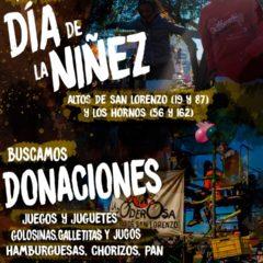 Colaborá con el día de la niñez en La Plata
