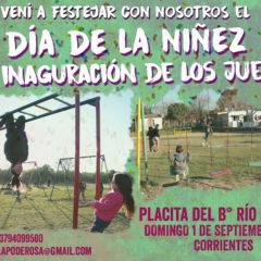 Día de la niñez e inauguración de la plaza en el barrio Río Paraná