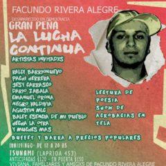 Peña solidaria por Facundo Rivera Alegre