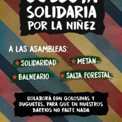 Colecta solidaria por la niñez en Salta