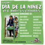Buscamos donaciones para el festejo del Día de la Niñez en Los Cortaderos