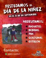 Colaborá con el Día de la Niñez en el 28 De Septiembre