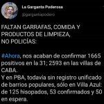 Faltan Garrafas, comida y productos de limpieza, no policías